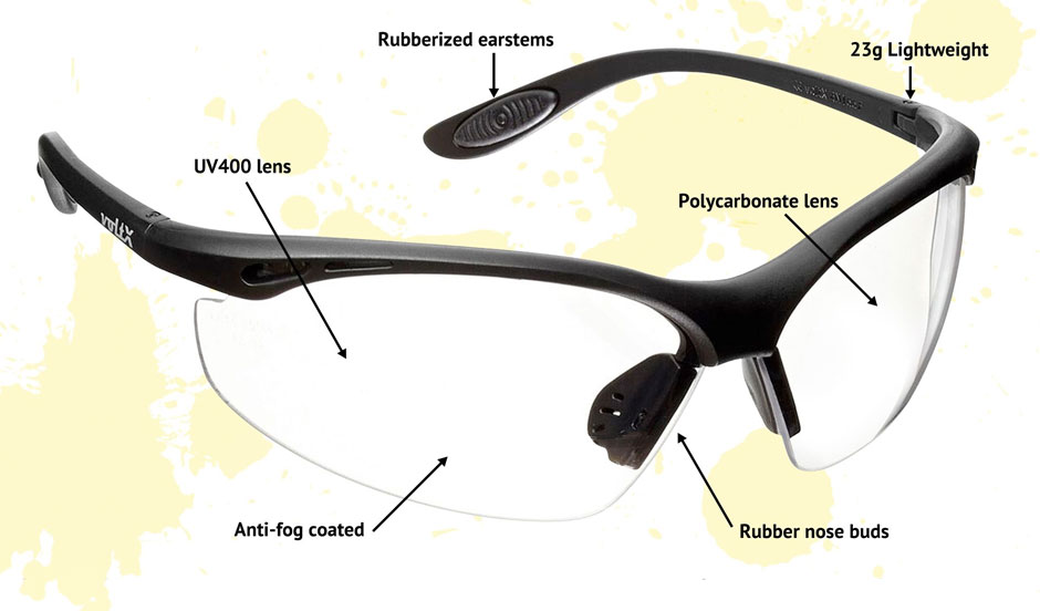 Constructor Plano Safety Glasses